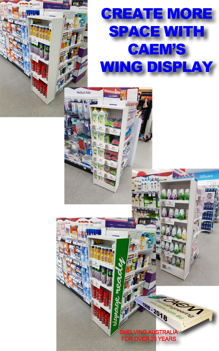 Shelving Accessories - WIng Display Flyer